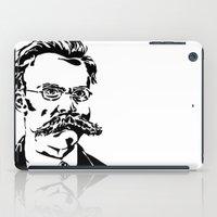 nietzsche iPad Cases featuring Friedrich Nietzsche by Joshua M. Paschal