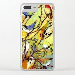 16 Birds Clear iPhone Case