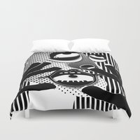 scream Duvet Covers featuring Scream by Paco Dozier