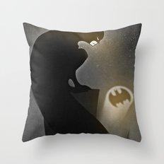 thebatsignal Throw Pillow