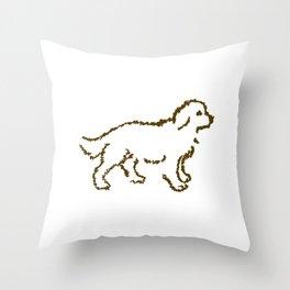 Scribble Dog Throw Pillow