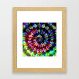 Psychedelic Rainbow Swirl Framed Art Print