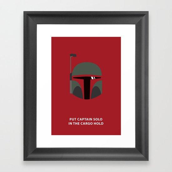 Star Wars Minimalism - Boba Fett Framed Art Print