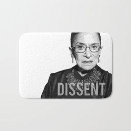 Ruth Bader Ginsburg DISSENT Collar RBG Bath Mat