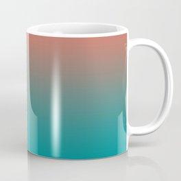 Pantone Living Coral & Viridian Green Gradient Ombre Blend Coffee Mug