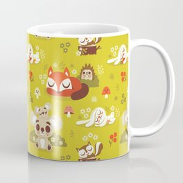 Sleeping Woodland Animals Coffee Mug