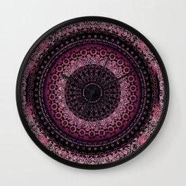 Rosewater Tapestry Mandala Wall Clock