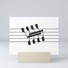 Rowing & Music Notes 8 Mini Art Print
