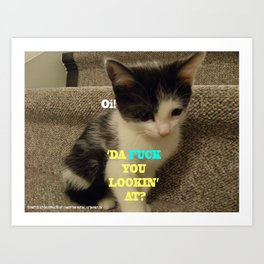 Sophia The Cat #3 [Tex's Owner] Art Print