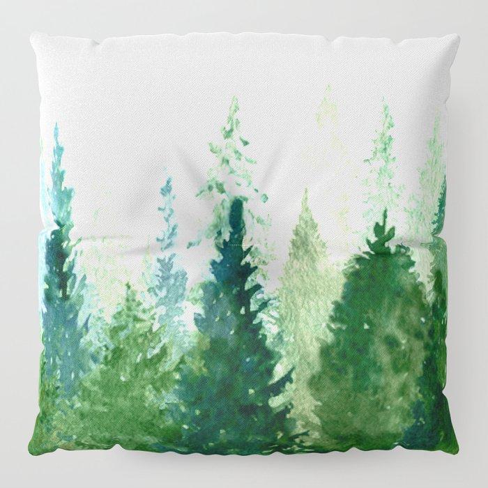 Pine Trees 2 Floor Pillow
