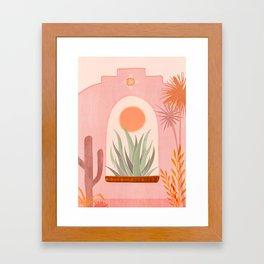 El Sol / Desert Landscape Framed Art Print