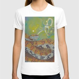 Serpent Goddess, Fantasy Snake Art T-shirt