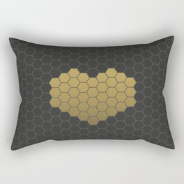 Beehive Hexagonal Geometric Heart Rectangular Pillow