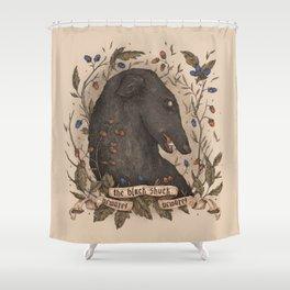 Beware, the Black Shuck Shower Curtain