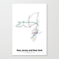 Highways of the USA – New Jersey and New York Canvas Print