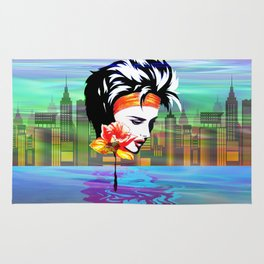 Metropolis Nostalgia Vaporwave Art Rug