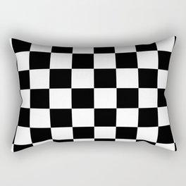 Black & White Checker Checkerboard Checkers Rectangular Pillow