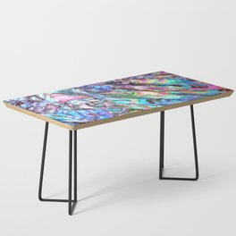 Shimmery Rainbow Abalone Mother of Pearl Coffee Table