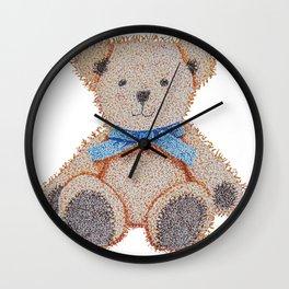 Stippled Teddy Bear  Wall Clock