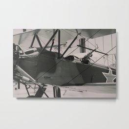World War 1 vintage aircraft print Metal Print