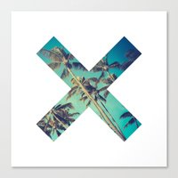 palm trees Canvas Prints featuring Palm Trees by Zavu