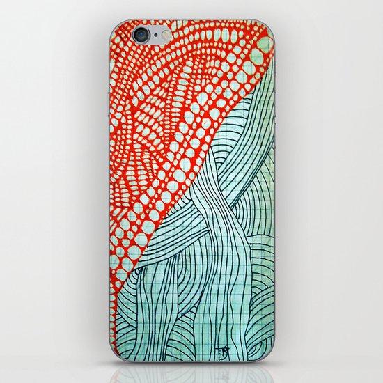 "Hand Drawn ""Orange Stones"" Doodle iPhone & iPod Skin"