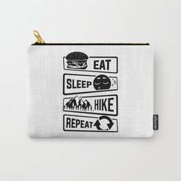 Eat Sleep Hike Repeat - Hiking Camping Nature Walk Carry-All Pouch