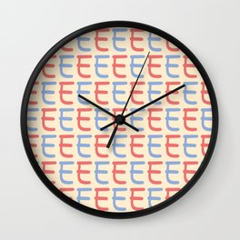 Capital Letter E Pattern Wall Clock