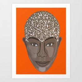brown visage Art Print