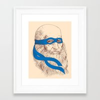 leonardo Framed Art Prints featuring Leonardo by Fresco Umbiatore