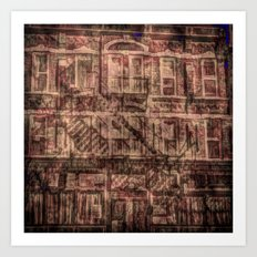 brick and iron Art Print