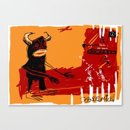 defeating the black monster Canvas Print