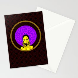 Seventies Woman Stationery Cards