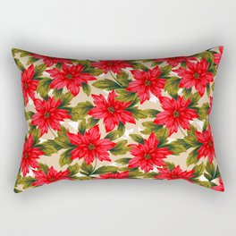 Poinsettia Rectangular Pillow