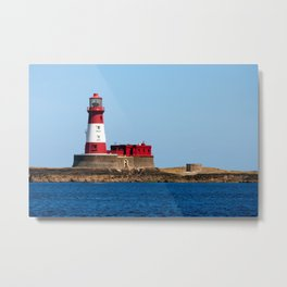 Longstone Lighthouse Metal Print
