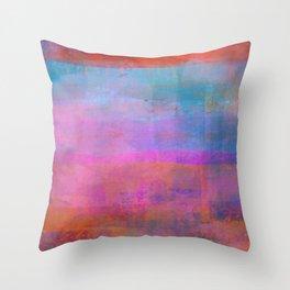 Pink Desert Throw Pillow