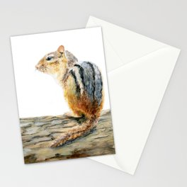 Little Chip - a painting of a Chipmunk by Teresa Thompson Stationery Cards