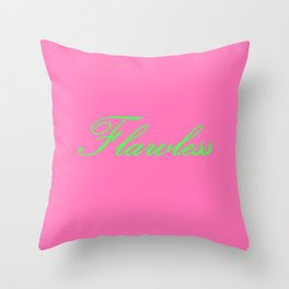 Flawless Pink & Green Throw Pillow
