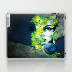 Esther Green (Set) by carographic watercolor portrait Laptop & iPad Skin