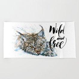 Lynx Wild and Free Beach Towel