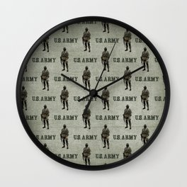 US Army Green Soldier Wall Clock