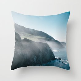 Sea Mist on the Big Sur Throw Pillow