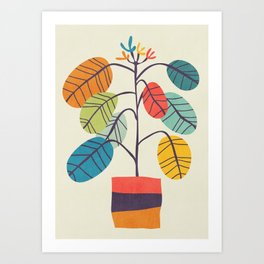 Potted plant 2 Art Print