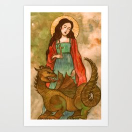 Saint Margaret of Antioch Art Print