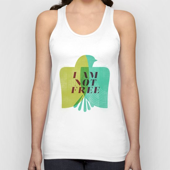 I am not free Unisex Tank Top