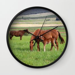 Horse Family Wall Clock