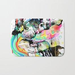 Ink Fight Colors Bath Mat