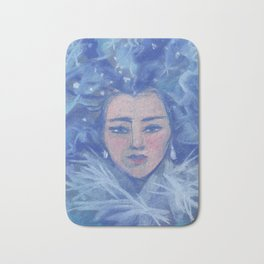 Snowgirl, Christmas &  New Year Bath Mat