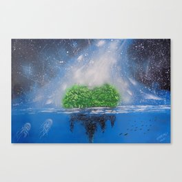 Heart In The Sea Canvas Print
