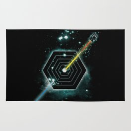 Space and Time Fragmentation Ship Rug